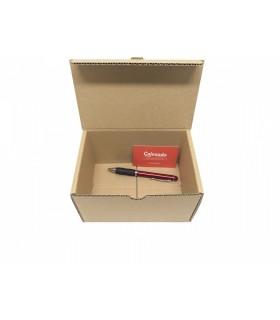 Caja de cartón troquelada de color marrón, Ecommerce 17x12x10