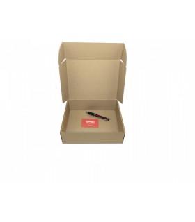 Caja de cartón troquelada de color marrón, Ecommerce 26x21x8