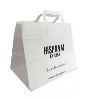 Bolsas de papel de color blanca personalizadas con una gran resistencia