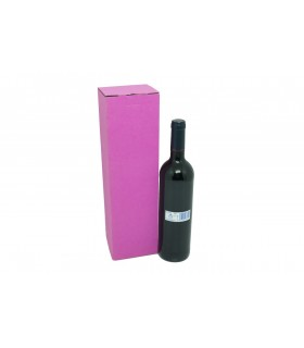 Caja 1 botella, microcanal de color rosa