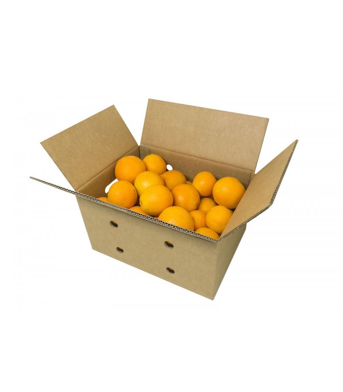 Caja de cart n para fruta grande caja agricultura - Cajas de madera para fruta ...