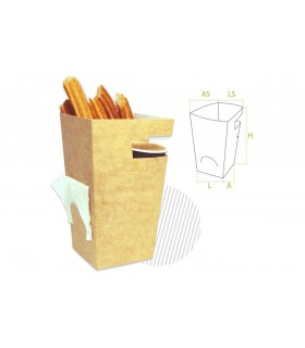 Pack cajas churros con chocolate