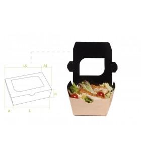 Pack de 500 ensaladeras con ventana en tamaño pequeña