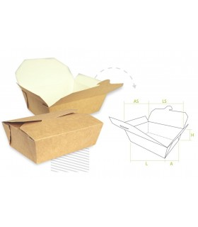 """Pack de envases """"caja americana"""" en tres tamaños"""