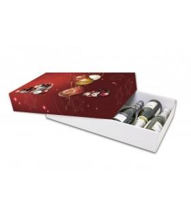 Caja de cartón para lotes navideños y cestas de Navidad