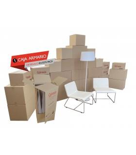 Pack grande de mudanza de 26 cajas