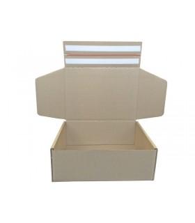 Caja de cartón automontable de doble envío, boomerang 35x25x13