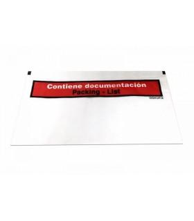 Caja de 250 sobres packing list porta-documentos de medida 24x12cm, unidad