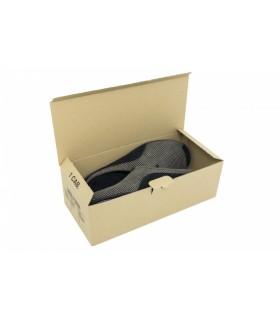 Caja de cartón automontable para zapatos de hombre en color marrón