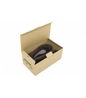 Caja cartón de fondo automático para zapatos de niño.