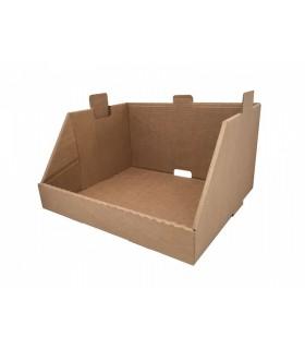Cajón de cartón expositor ensamblable o gaveta, elemento