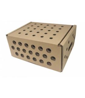 Caja de cartón para pequeños animales, cerrada