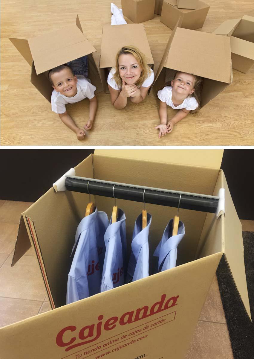 Packs de cajas de cart n para mudanzas cajeando for Cajas para mudanzas